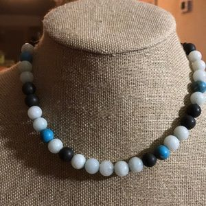 Fossil Gemstone Beaded Necklace